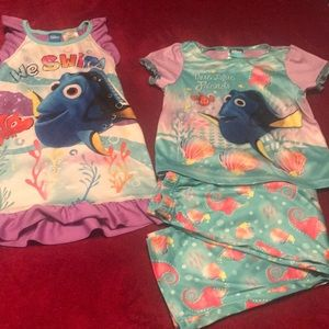 Other - 4T Finding Dory Pajama Lot